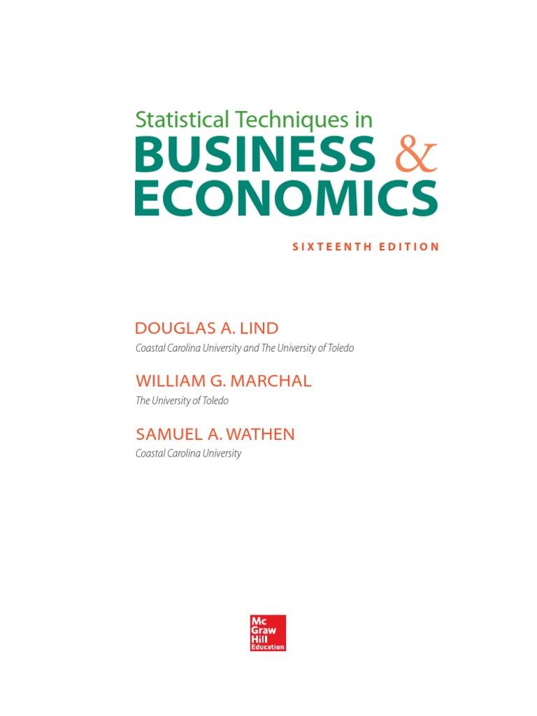 Statistical techniques in business economicspdf mean median fandeluxe Images
