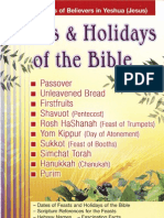 Feast & Holidays of the Bible
