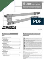 Motor Puerta Batiente Lince 400/600