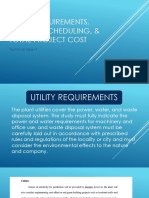 Utility Requirements, Project Scheduling, & Total Project Costs