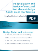 Structural Idealization and Optimization of SPort Arena-KSU