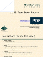 Team Company Name Status Report Presentation