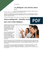 Déléguer Tel Un Pro Du Management 6 Stratégies Qui Aideront Votre Business