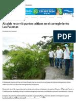 18-07-2017 Alcalde recorrió puntos críticos en el corregimiento Las Palomas