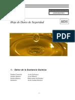 Hoja de Seguridad Aceite Mineral Dieléctrico