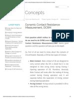 Dynamic Contact Resistance Measurement, DCRM _ Electrical Concepts.pdf