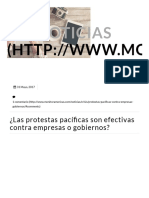 ¿Las Protestas Pacíficas Son Efectivas Contra Empresas o Gobiernos