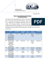 RLQ Festa Schedule 2010 - Grand Prize Winners