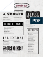 The Smoking Gun and Spill the Beans Menus