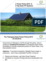 Telangana Solar Policy & Roof Top Net Metering