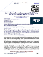 Answer Search Indonesian Language Hadith Using Vector Space Model in PDF Document