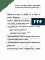 Denel Asia shareholder meeting