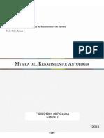 06031005 Musica Del Renacimiento - Antologia