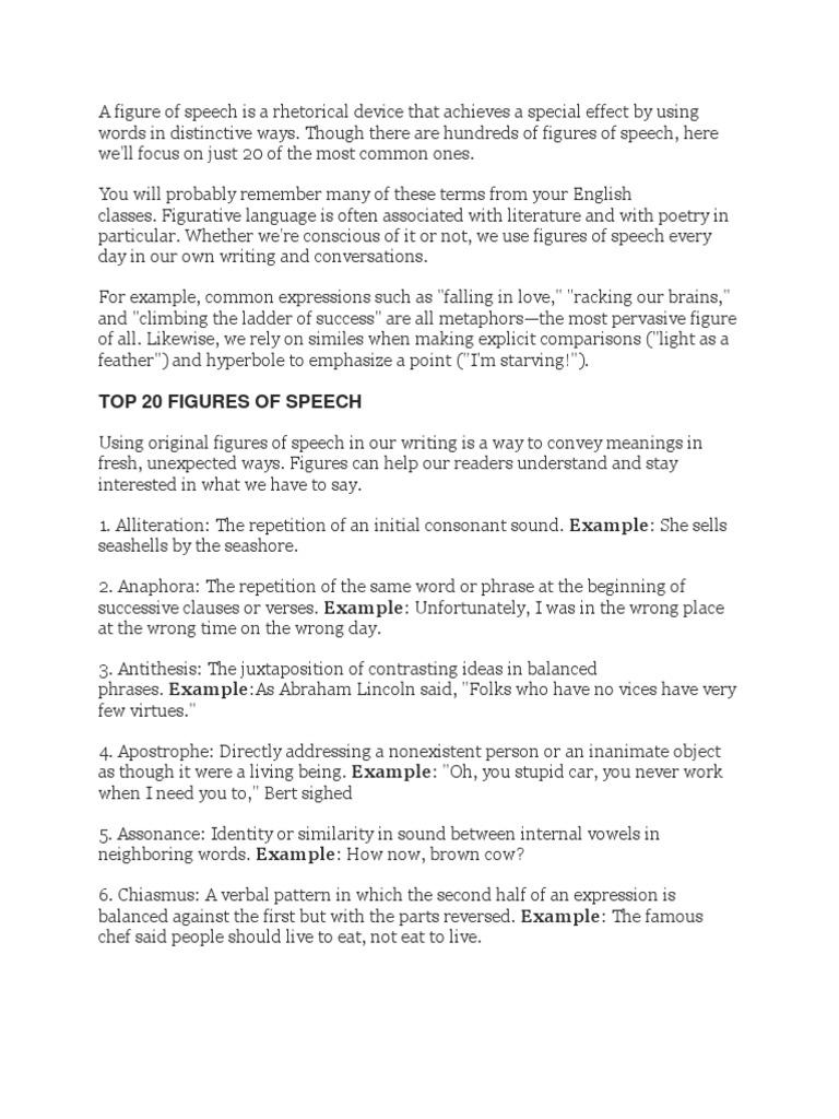 Figures Of Speech Metaphor Persuasion