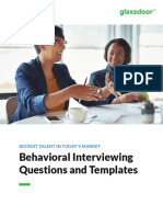 Glassdoor Behavioral Interviewing Questions Templates eBook 2017