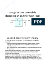 Things to Take Care While Designing an LC