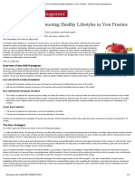 Four Strategies for Promoting Healthy Lifestyles in Your Practice - Family Practice Management