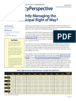 Managing Right of Ways- Peacock & Krog