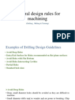 General Design Rules for Machining