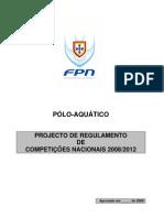 Projecto Regulamento Competições Nacionais