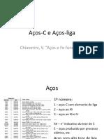 Aços-C e Aços-liga