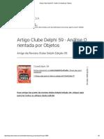 Artigo Clube Delphi 59 - Análise Orientada Por Objetos
