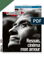 Libération (3 de marzo de 2014) (Fallecimiento Alain Resnais)