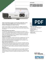 Epson EB 915W Datasheet