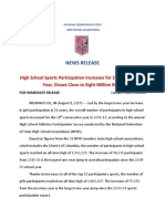 Sports Participation Survey Press Release