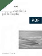 Badiou - Segundo Manifiesto Por La Filosofia