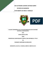 Calidad Agronómica de Las Aguas Residuales en Un Sistema Natural de Depuración