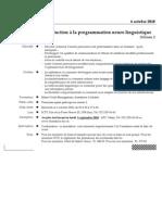 La Program Mat Ion Neuro Linguistique PNL