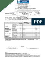 Certificado PRIMER