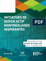Initiatives de design actif montréalaises inspirantes