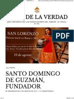 Santo Domingo de Guzmán, Fundador – Amor de La Verdad