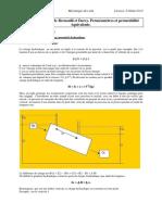 Chapitre IV Bernoulli Et Darcy, Perméamètres Et Perméabilité Équivalente