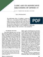 Frymer-Kensky Atrahasis Epic and Genesis 1-9