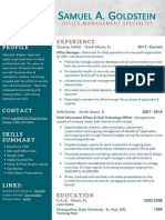 Samuel A. Goldstein - Office Management Specialist Resume