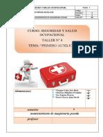 Informe 8 Seguridad Primeros Auxilios