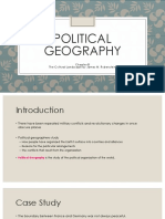 Chapter 8- Political Geography