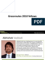 Grassroutes 2010 Fellows