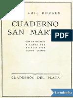 Cuaderno San Martin - Jorge Luis Borges