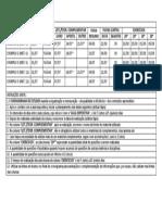Cronograma de Estudos Padrão (2017) - Instruções