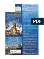 Programa XV años de Tepotzotlán Pueblo Mágico
