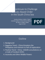 Thayer, China Challenges Rules-Based Order in the South China Sea