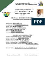 Acta de Apertura de Elecciones Para Gobierno Escolar - Chany