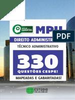 #MPU - Direito Administrativo - 330 Questões Cespe - Mapeadas e Gabaritadas (2017) - Estúdio.pdf