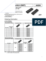 Dip Switch (Switch Multiple) Datasheet