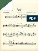 Erzählung, Op.62 No.3 (Album Fur Die Jugend, Franz Xaver Scharwenka, Arr. Maria Luisa Anido)
