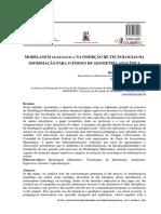 MODELAGEM MATEMÁTICA NA INSERÇÃO DE TECNOLOGIAS DA INFORMAÇÃO PARA O ENSINO DE GEOMETRIA ANALÍTICA